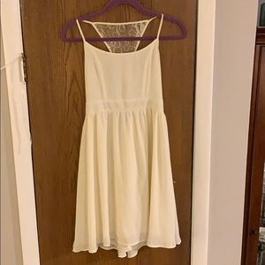 White Flowy A-line White Dress